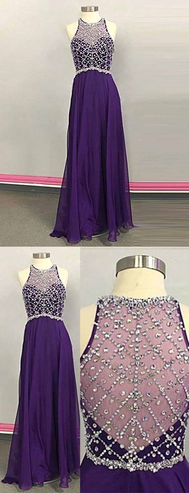 Nice Prom Dress,Jewel Prom Dress,Sleeveless Prom Dress,Long Prom Dress,Purple Prom Dress,Illusion Back Prom Dress,Beading Prom Dress,Prom Dress,Prom Dresses,2017 Prom Dress,2017 Prom Dresses