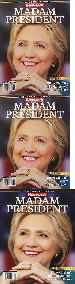 Hillary Clinton: Recalled Newsweek Madam President Hillary Clinton Commemorative Poster Photo. BUY IT NOW ONLY: $27.99