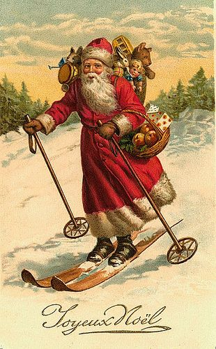 Joyeux Noel...Joyous Christmas Vintage Santa/Christmas Postcard | Flickr - Photo Sharing!