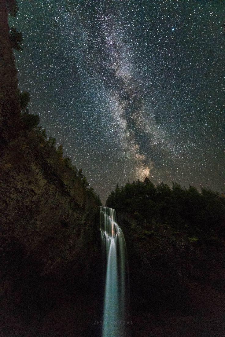 Terminus by Earshel Hogan on 500px... #astro #long exposure #milky way #milkyway #night #nightscape #stars #waterfall #CreekFalls #Oregon