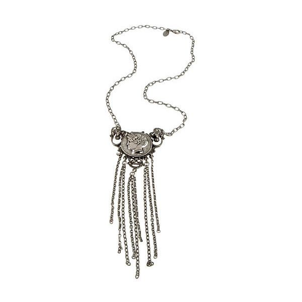 Jennifer Elizabeth Olympus Necklace ($150) ❤ liked on Polyvore featuring jewelry, necklaces, accessories, jennifer elizabeth jewelry, pendant jewelry, chain pendants, chains jewelry and chain necklace