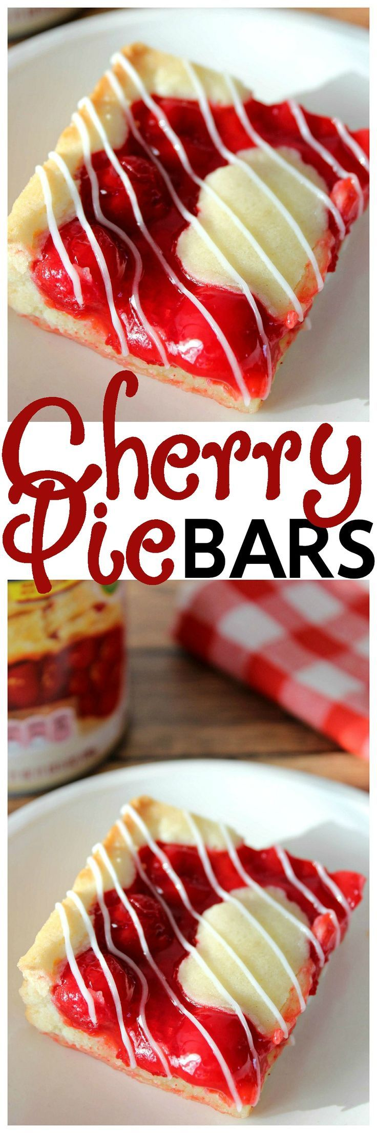 Buttery pie crust topped cherries and a sweet glaze. Yummy bar recipe.