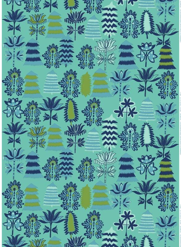 Satumetsä Marimekko Off to the Woods: Marimekko´s Autumn 2012. Satumetsä (Fairy tale Forest), Design: Teresa Moorhouse for Marimekko