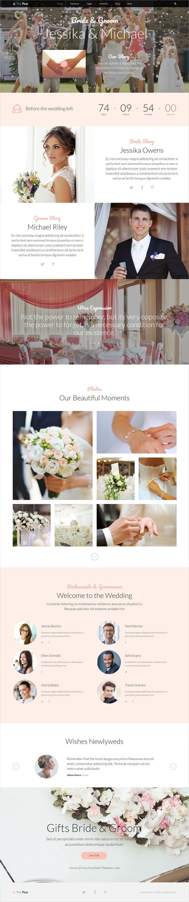 Viac ako 25 ºplne najlepÅ¡ch nápadov na tému WordPress wedding