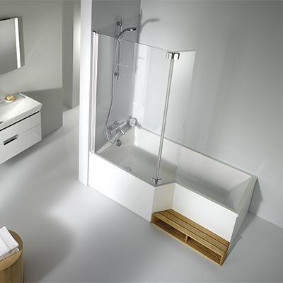 Les 25 meilleures id es concernant baignoire d 39 angle sur pinterest baig - Baignoire angle douche ...