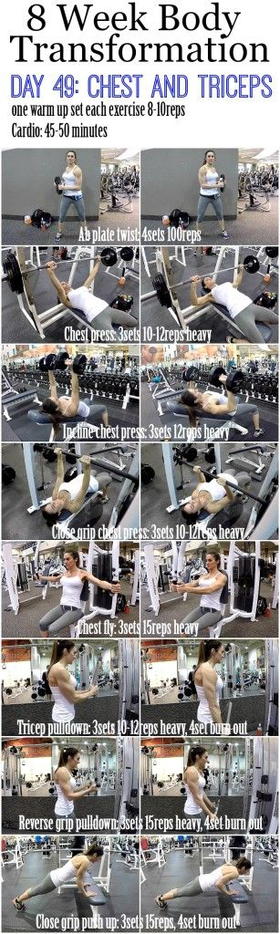 8 Week Body Transformation (Week 7, Day 49: Chest and Triceps)