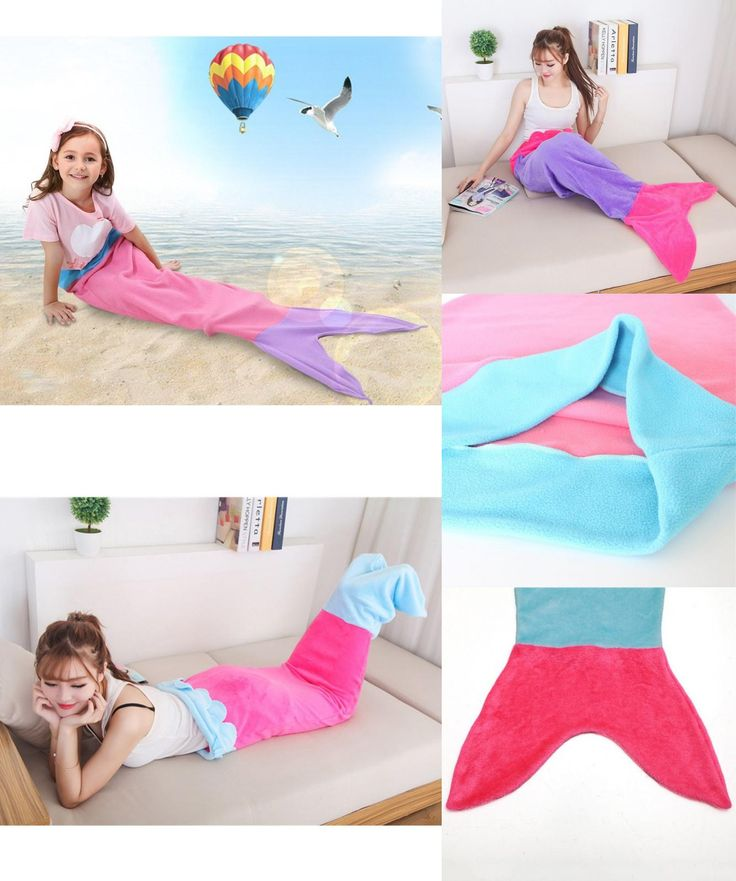 [Visit to Buy] 5-12T Kids Mermaid Blanket Towel Envelopes Soft Animal Sleeping Bag Pajamas Overalls Children Quilt Velvet Shark Blanket AA #Advertisement