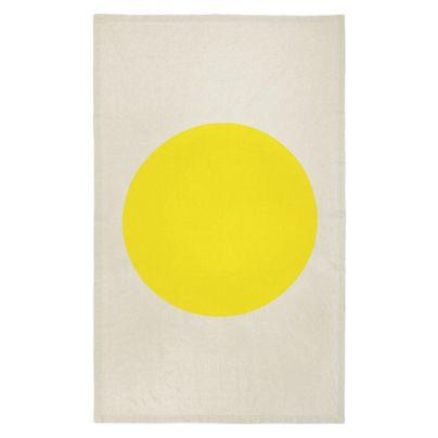 Big Spot Tablecloth Bright Yellow 150x230cm