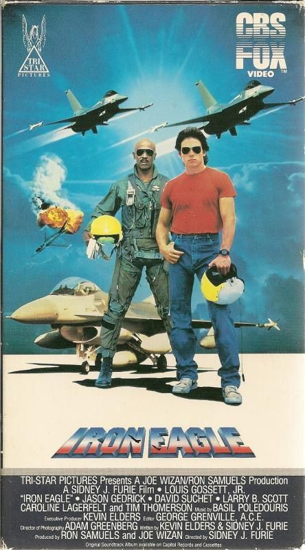 Iron Eagle VHS Mideast Louis Gossett Jr