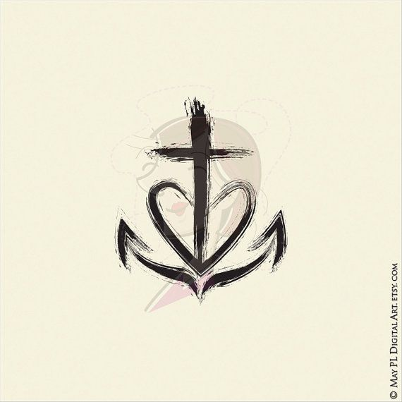 Christian Clipart Church Symbols Cross Equals Love Faith Hope