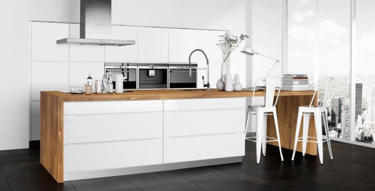 really nice layout with timber bench top  miss-design.com-minimalistic-kitchen-interior-13