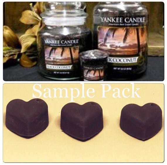 Sample Yankee candle black coconut yankee wax melts designer