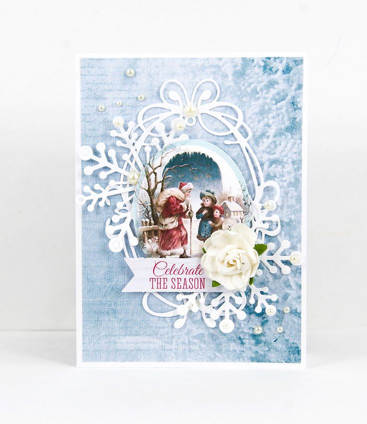 Silver Bells card by Alena Grinchuk