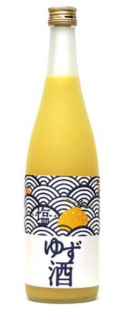 Japanese Yuzu Citrus Wine|塩ゆず酒 half pattern label