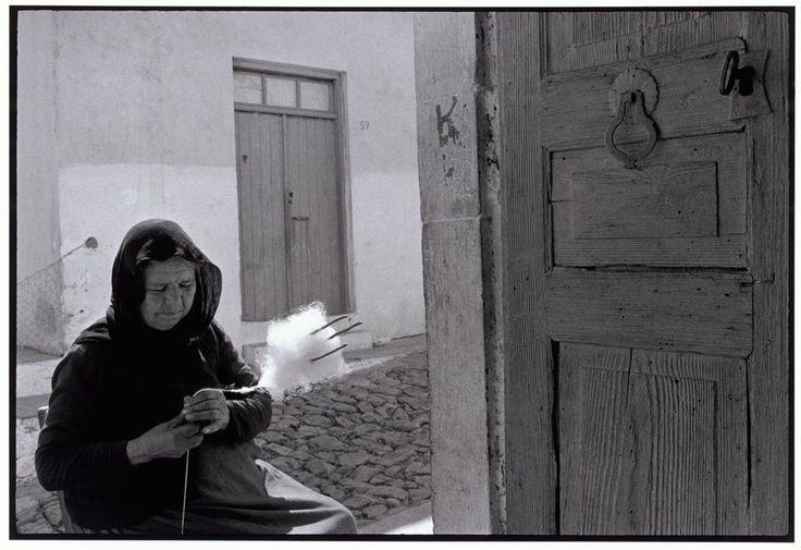 "Constantine Manos. GREECE. Crete. 1964. Woman carding wool. ""A Greek Portfolio"".  © Costa Manos/Magnum Photos"