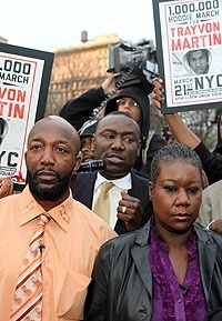 Thousands march in NYC today to demand justice for Trayvon Martin.