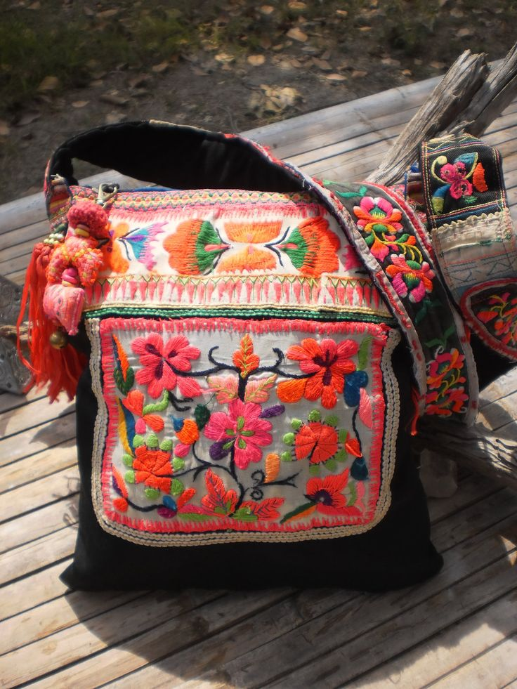 Tribal  Hmong Vintage Textile Bag. $44.00, via Etsy.