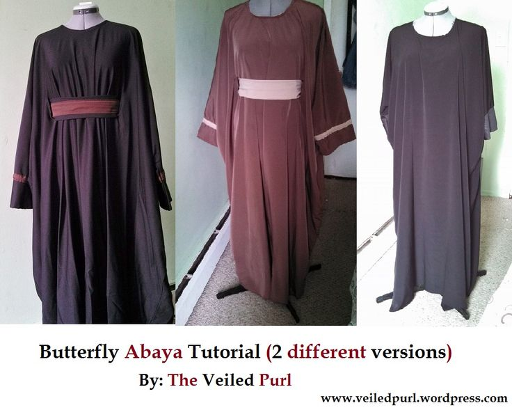 Butterfly Abaya 2 styles sewing tutorial