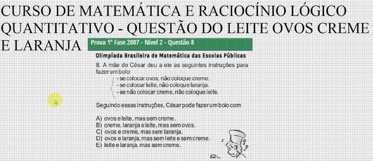 #RACIOCÍNIO #LOGIC #MATEMÁTICÃO #LÓGICAMENTE #MATEMÁTICATOTAL #MATEMÁTICAMANIA #DESAFIORLM  https://youtu.be/Jhxr459nvPk