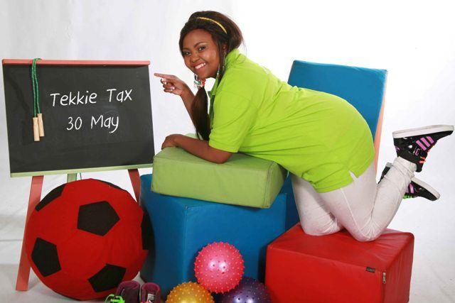 Rhythm City - Itumeleng Bokoba shows off her tekkies for Tekkie Tax day! http://www.tekkietax.co.za/