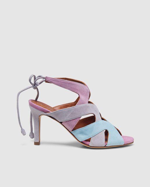 Sandalias de tacón de mujer Pedro Miralles en ante tricolor ... 2c804e297fc