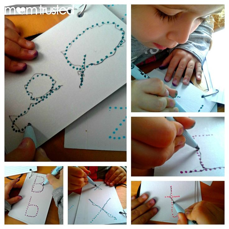 On-the-go Reusable Letter Tracing - Preschool Activities and Printables