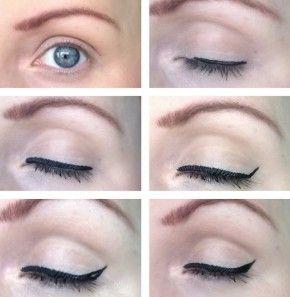 Vloeibare eyeliner aanbrengen. Van BellaMade