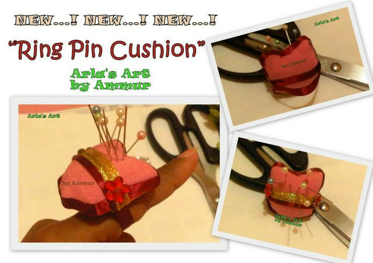 Ring Pin Cushion...! :-) Cute and Unique.. :-) simplifying our life from messy needles LoL
