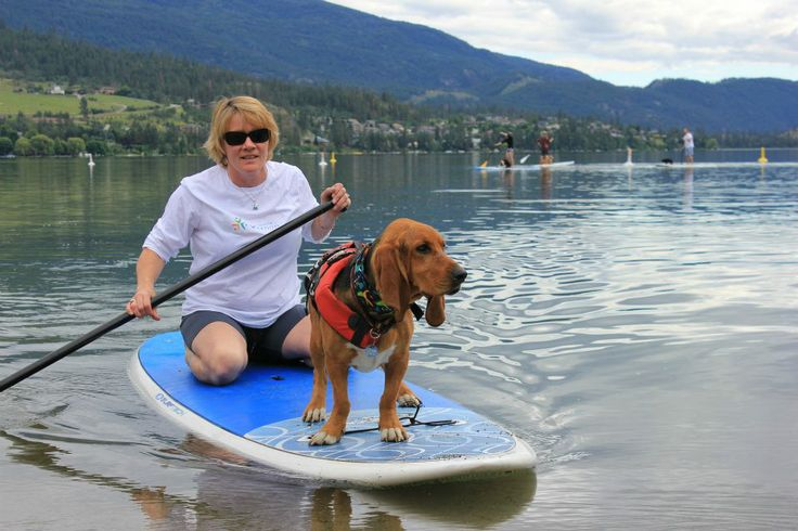 Tucker - Captain of the stand up paddle boarding on Kalamalka Lake Vernon BC