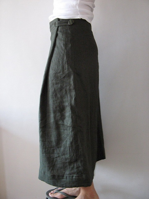 Linen long skirt, will try to make one.