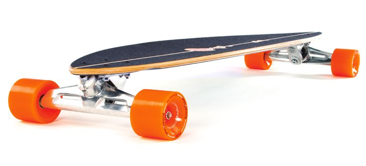 Original Longboard company - Pintail is 40 inches of stable platform designed for controlled cruising and premium carving. Mounted standard with Original S8, 200mm, carving trucks and without risers, it sits low on wider trucks. The 7 ply Canadian maple construction of the Pintail 40 supplies the perfect flex for its wheel base.