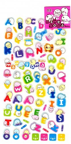 San-X Japan Mamegoma Babies Alphabets Sticker Sheet 2009 Kawaii