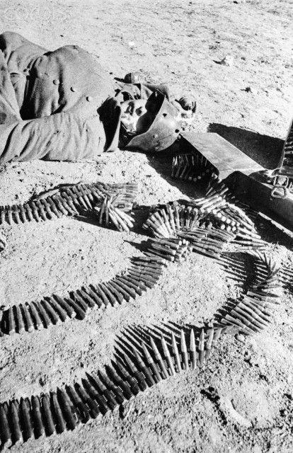 A dead German soldier, 1943.
