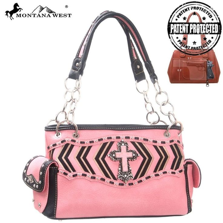 Concealed Weapon Collection NEW Montana West western style Handbag Purse Pink #MontanaWest #ShoulderBag
