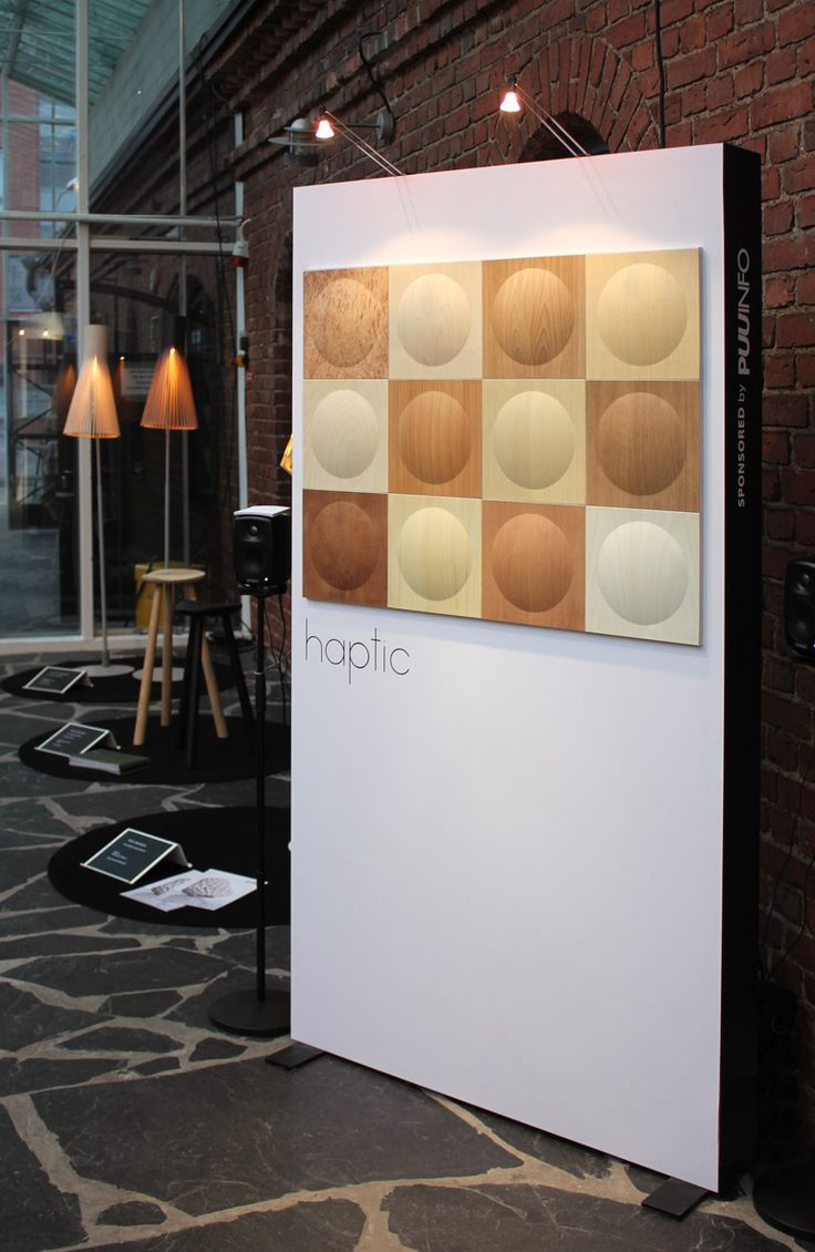 HAPTIC - wood panels and touch sensing technology. Karell Design & Taito United