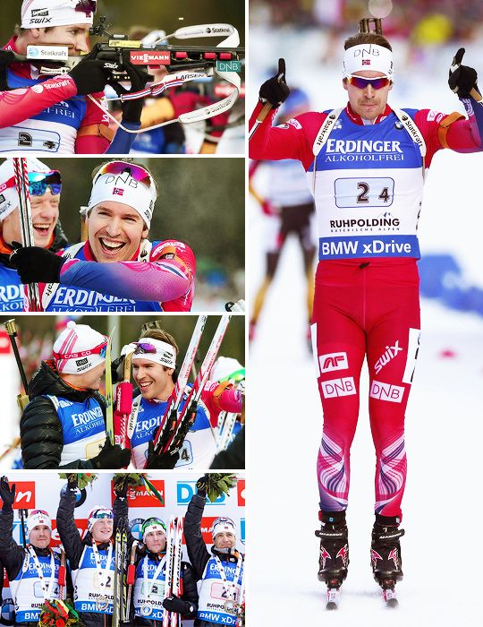 "emilheglesvendsen: "" Team Norway won men's relay in Ruhpolding """