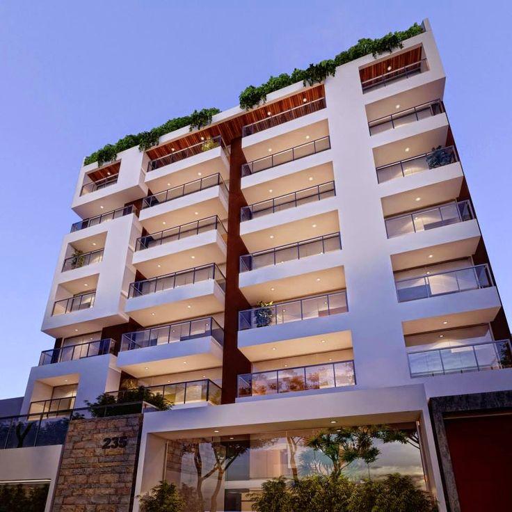 17 mejores ideas sobre fachadas de apartamentos en for Fachadas para departamentos pequenos