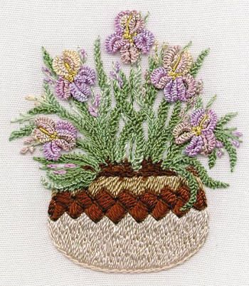 Brazilian Embroidery | - Brazilian Embroidery pattern stitched with EdMar rayon Brazilian ...