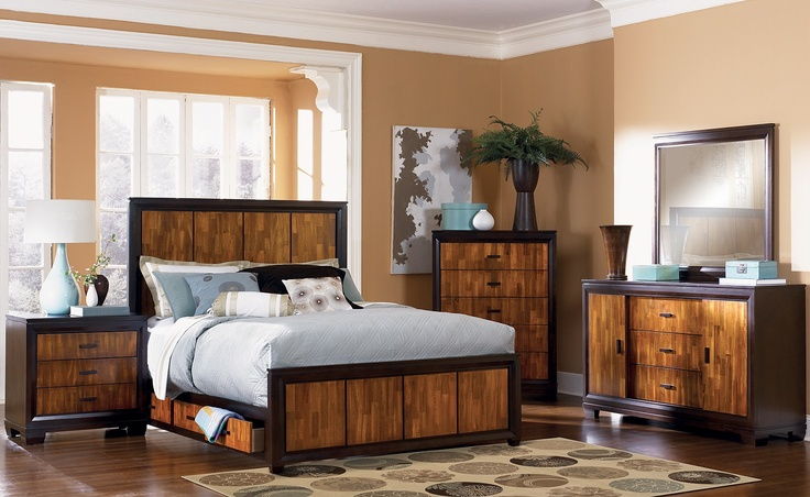 Beautiful king size bedroom set nice dream house pinterest beautiful nice and drawers for Ashfield 6 piece queen storage bedroom set