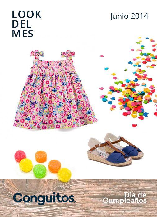 GET THE LOOK! Si tu niña está invitada a una fiesta infantil apuesta por este total look de @Conguitos. Un colorido vestido junto a unas mini cuñas ¡Se sentirá toda una mujercita!