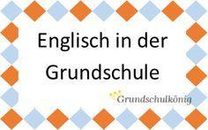 Englischübungen, Aufgaben und Arbeitsblätter für den Englisch-Unterricht an der Grundschule - zum kostenlosen Download als PDF