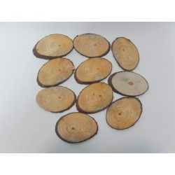 RODAJAS OVALADAS PINO 12-13cm (10 uds) #natural #madera #materiales #decoración #navidad