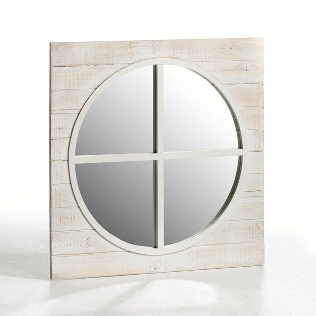 Espejo ojo de buey de pino carise la redoute interieurs for Espejo ojo de buey