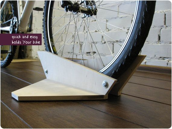 Bike stand woodden bike holder bicycle Shelf bike by BikeWoodHome