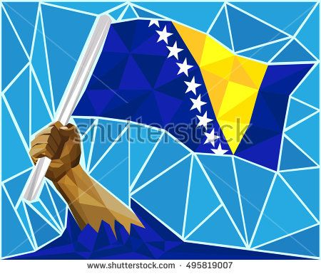 Stock Vector Illustration:     Strong Hand Raising The Flag Of Bosnia And Herzegovina     Image ID:495819007     Copyright: Craitza     Available in high-resolution and several sizes to fit the needs of your project.