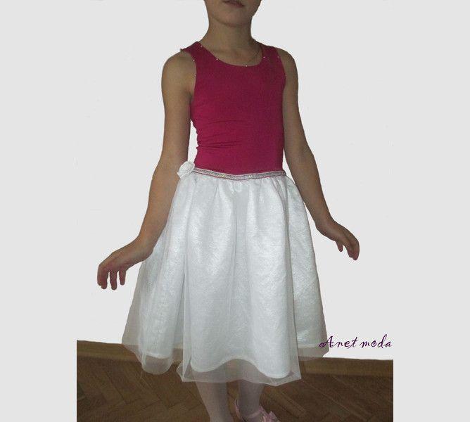 Sukienka balowa dla dziewczynki rozmiar 128 134 w Anetmoda na DaWanda.com