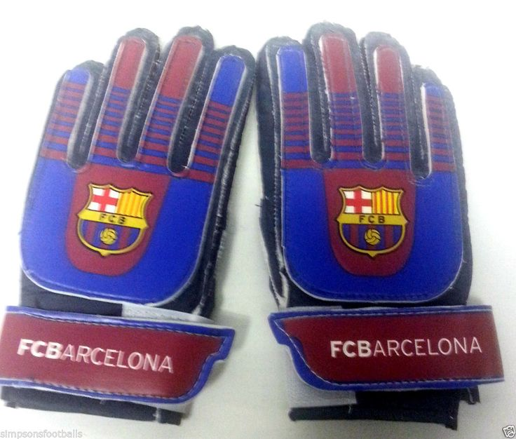 Barcelona Fc Goal Keeper Goali Gloves Official Football Gifts Goal Keeper Gloves Goalie Glove Recommend 3 to 8 years Brand New