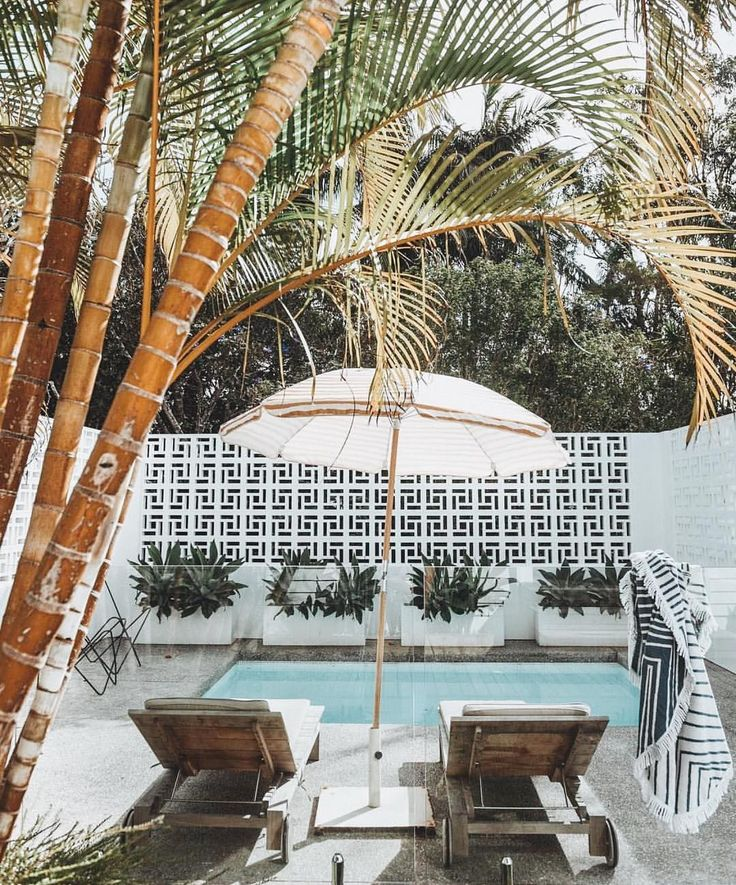 """438 Likes, 1 Comments - The Beach People (@thebeachpeople) on Instagram: """"pool goals...those breeze blocks! Feat. our Avalon roundie #thebeachpeople #onlinenow #byronbay…"""""""