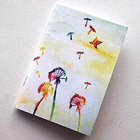Szivárványos pitypangok füzet #festészet #design #illusztráció