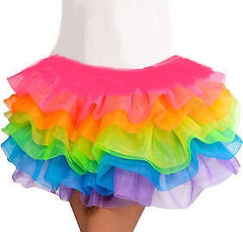 Rainbow Outfit Einhorn Kopf Ohr Satz Tutu Kostüm Halloween Weihnachtsgeschenk